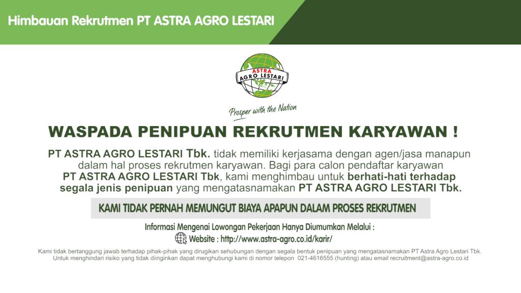 Lowongan Pekerjaan Astra Agro Lestari